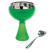A di Alessi Big Love Bowl and Spoon, Green