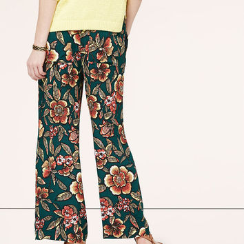 Paradise Wide Leg Ankle Pants | LOFT