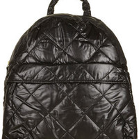 Black Nylon Quilted Backpack - Backpacks - Bags & Wallets - Accessories - Topshop USA