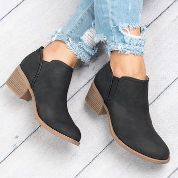Philly Slip-on Booties - Black
