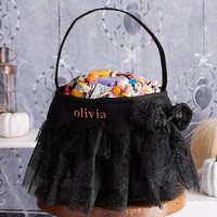 Black Tulle Treat Bag