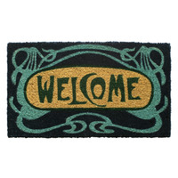 Entryways Art Deco Welcome Hand-Woven Coconut Fiber Doormat
