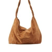 Cognac Twisted Strap Slouchy Hobo Bag by Charlotte Russe