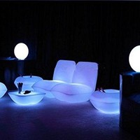 GOWE Waterproof Vondom | Pillow Lounge Chair LED luminous furniture sofa decorating your living room,pool, garden,bar,terrace etc