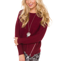 Olympia Sweater - Burgundy