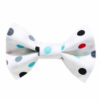 Sweet Pickles The Baller Cat Bow Tie in Polka Dot