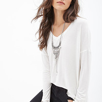 FOREVER 21 Boxy V-Neck Top