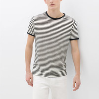 STRIPED LINEN T-SHIRT