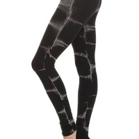 Black Cloud Tie Dye Stretch Leggings