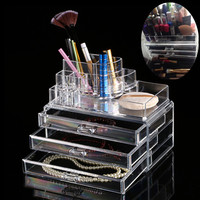 Acrylic Cosmetic Organizer Drawer Makeup Case Storage Insert Holder Box Clear Makeup Free shipping