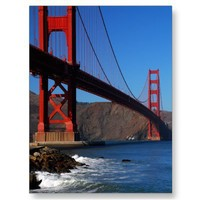 Golden Gate Waves Postcard from Zazzle.com