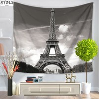 XYZLS 150*200cm Eiffel Tower Wall Tapestry Polyester Beach Towel Home Decoration Wall Hanging Tapestry Yoga Mat Pinic Mats