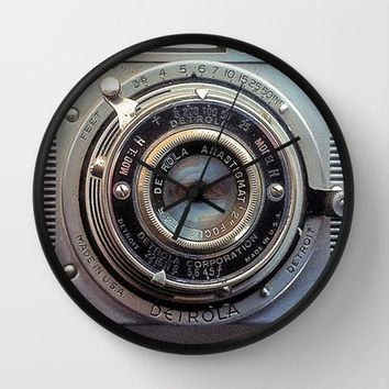 Detrola (Vintage Camera) Wall Clock by RichCaspian | Society6