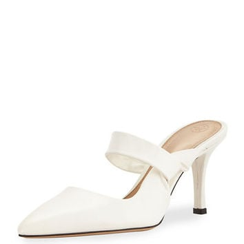 THE ROW Gala Twist Leather Mule Pump