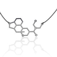 Molecule necklace | LSD necklace -Sterling Silver |chemistry jewelry | science jewelry