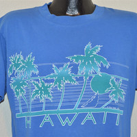 80s Hawaii Palm Tree Sunset Distressed t-shirt Large