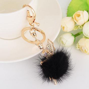 Fairy Fur Ball Keychain