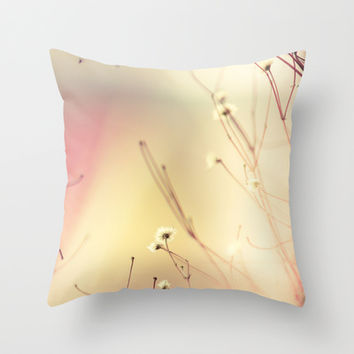 Burning flowers Throw Pillow by HappyMelvin