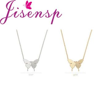 Jisensp New Classic Cute Butterfly  Necklace for Women Simple Animal Women Long Necklace Butterfly Party Gifts N169
