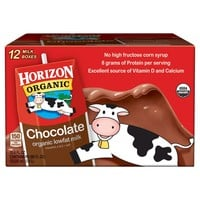 Horizon Organic Chocolate Low-fat Milk - 12ct