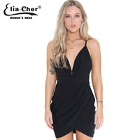Summer style black sexy club dress   causal plus size women clothing chic elegant open sexy back backless mini dresses