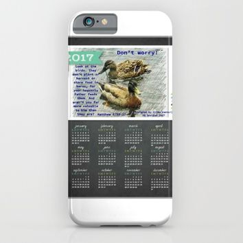 Don't worry, God cares for the birds, bible verses, 2017 Calendar iPhone & iPod Case by AJVen