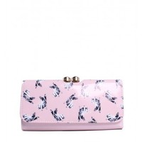 Ted Baker London Bobbin Cotton Print Matinee Wallet in Baby Pink