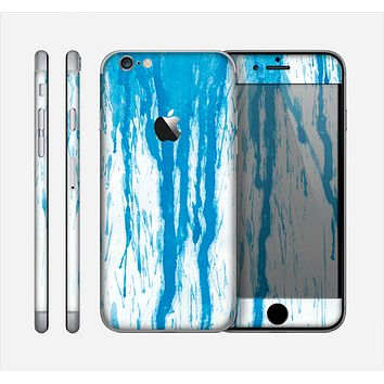 The Running Blue WaterColor Paint Skin for the Apple iPhone 6