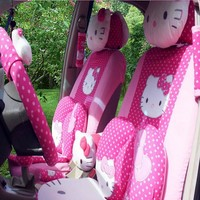 Universal Cartoon Hello Kitty Car Seat Covers Hello Kitty Styling Car Interior Accessories cushion styling car pad seat covers