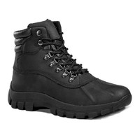 Men's Waterproof Genuine Leather Lace-Up Insulated Snow Boots