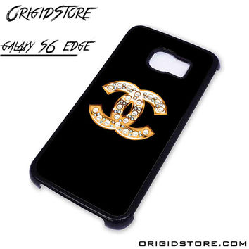 chanel black For Samsung Cases Phone Covers Phone Cases Samsung Galaxy S6 Edge Case Samsung Galaxy S6 Edge Case Smartphone Case