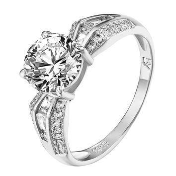 Solitaire Engagement Promise Ring Sterling 925 Silver Ladies Wedding Round Cut