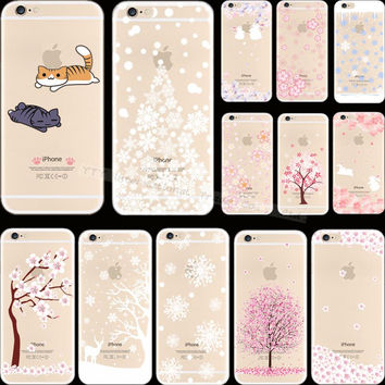 5 5S SE ovel Styles Painting Tree Fruit Silicon Phone Cover Cases For Apple iPhone 5 iPhone 5S iPhone5S Case Shell 2016 Top Hot