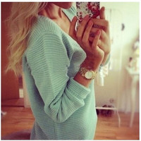 Neon Knitted Sweaters Women Long Sleeve Winter Knit Sweater Women Sweaters Pullovers
