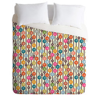 Sharon Turner Mocha Chocca Candy Bubbles Duvet Cover