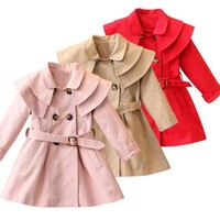 Toddler Girl Trench Coat