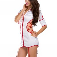 Amour- Naughty Role Play Nurse Costume Sexy Lingerie Valentine Gift (XS, ms11232)