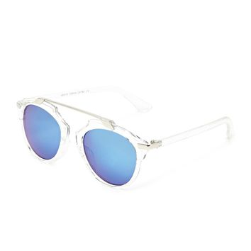 Mirrored Clear Sunglasses