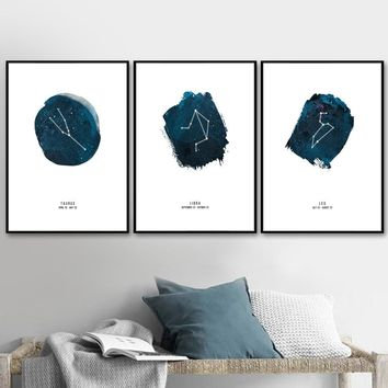 Astrology Constellation Nordic Posters And Prints Wall Art Canvas Painting Nursery Wall Pictures For Living Room Kids Room Decor