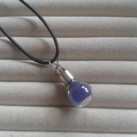 Closing sale - fantasy purple  fairy dust small bottle  charm  pendant necklace