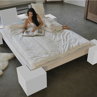 Double bed 319 by Wissmann raumobjekte