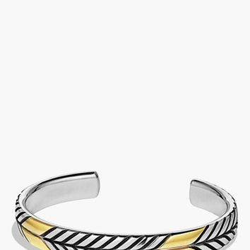 Men's David Yurman 'Modern Chevron' Cuff Bracelet with Gold