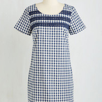 ModCloth Americana Mid-length Short Sleeves Shift Boulangerie and Beyond Dress