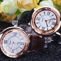 Womens Leather Watch + Gift Box