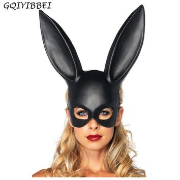 GQIYIBBEI Cool PVC Women Girl Party Christmas Mask Bar KTV Club Halloween Masquerade Bunny Ear Mask Rabbit Girl
