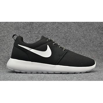 Nike Roshe One Black and White 844994-002 Roshe Run -Free Shipping-