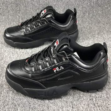 FILA Women Fashion Casual Running Sport Casual Shoes Sneakers Black G-CSXY
