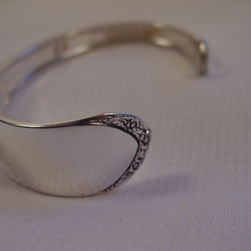 A Spoon Rings Plus Spoon Cuff Bracelet  See Description For Size Vintage Fork and Spoon Jewelry c113