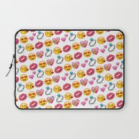 Valentine's Day Emoji Love Laptop Sleeve by Love Lunch Liftoff