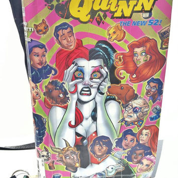 Harley Quinn Comic Book Purse - Handbag - Duct Tape Purse - Shoulder Bag